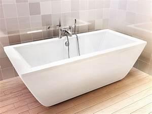 Freistehende Acryl Badewanne : freistehende badewanne ibiza aus acryl wei gl nzend 180x80x59 eckig modern duo ~ Sanjose-hotels-ca.com Haus und Dekorationen