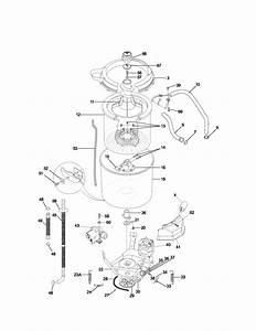 Motor  Tub Diagram  U0026 Parts List For Model 41794812301