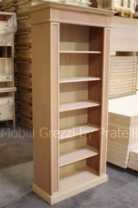 libreria legno grezzo librerie in legno massello libreria angolare in legno