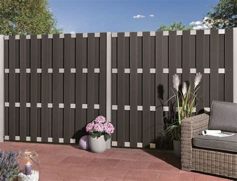 garden patio wpc fence composite fence panel