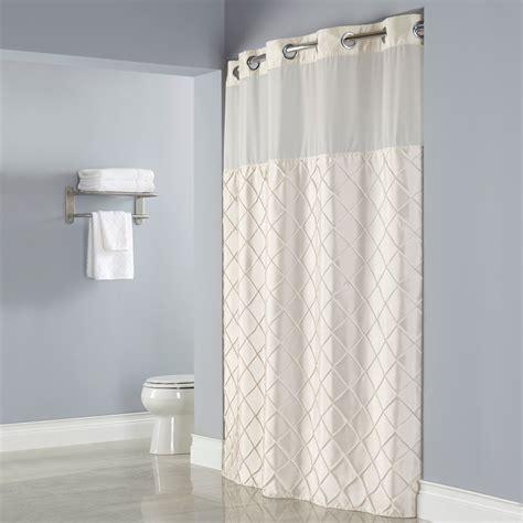 Dusche Mit Duschvorhang by Hookless Hbh12ptk05sl77 Beige Pintuck Shower Curtain With