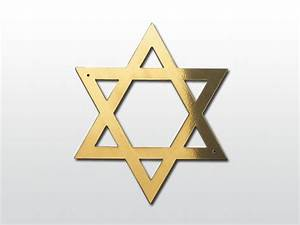 Ceabis Star of David for Coffin, Brass Jewish Star of David