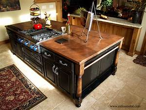 Copper island countertop - Traditional - Kitchen - by Milo