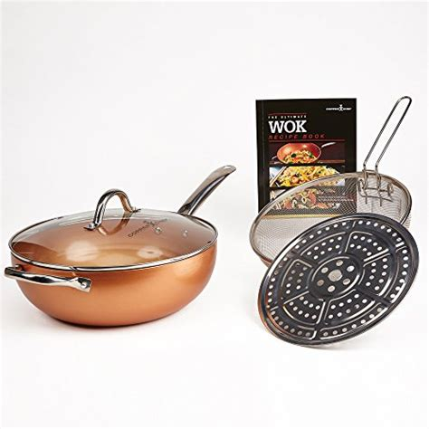 copper chef   pan  lid micromally