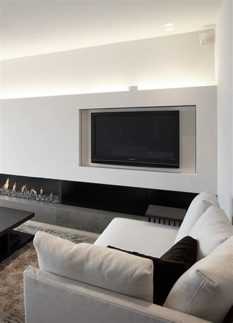 Fernsehwand Mit Indirekter Beleuchtung by Sleek Apartment With Indirect Lighting In Duinbergen By
