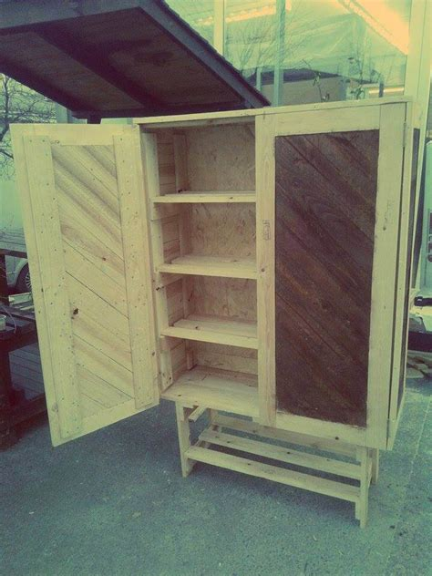 building cabinets out of pallets how to build pallet cabinet for storage