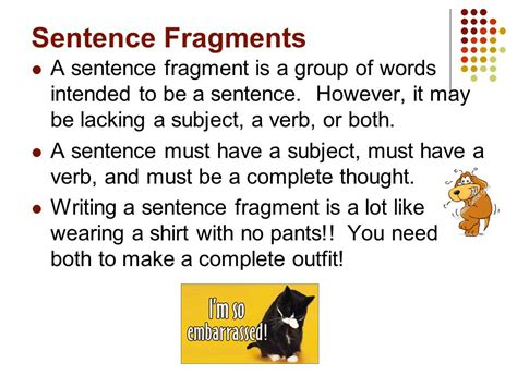 Sentence Fragments And Runon Sentences  Ppt Video Online Download