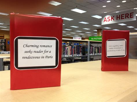 teen library display  valentines day blind date