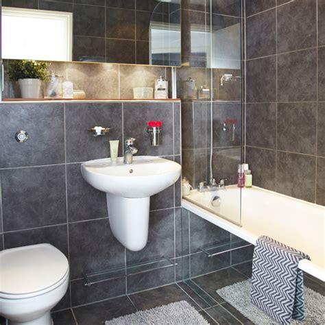 grey bathroom decorating ideas modern slate grey bathroom bathroom decorating ideal home
