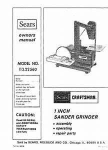 Craftsman 113 22560 Sander Owner U0026 39 S Manual Pdf View  Download