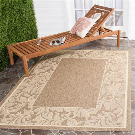 Safavieh Courtyard Brownnatural 6 Ft 7 In X 9 Ft 6 In