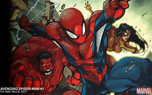 Avenging Spider-Man Red Hulk Spider-Woman Marvel Comics ...