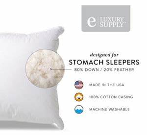 amazon save 25 off highly rated extra soft down filled With best pillow for stomach sleepers amazon
