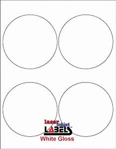 4quot circle glossy white labels laser inkjet labels With glossy circle labels
