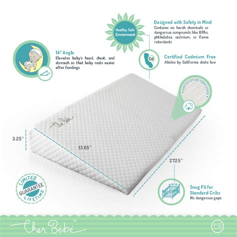 Premium Crib Wedge For Reflux By Cher Bb Cher Bb