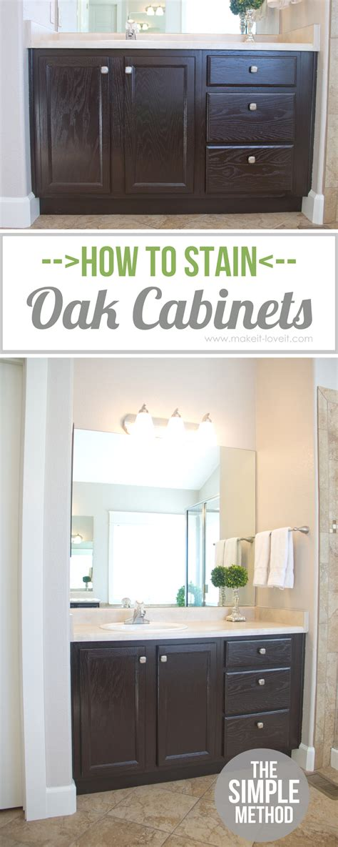 how to stain cabinets how to stain oak cabinets the simple method without