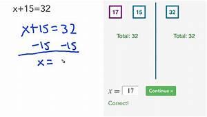 Basic Algebra - Solving Equations  Lesson 1
