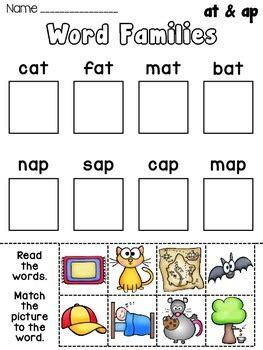 Short Vowel Word Families Practice Worksheets By Miss Giraffe  Teachers Pay Teachers