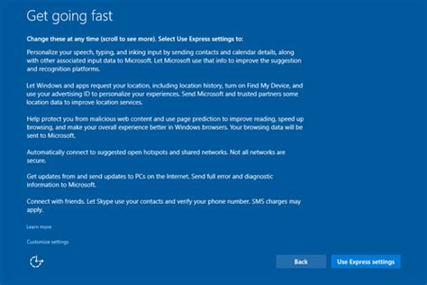setting your preferences for windows 10 services windows