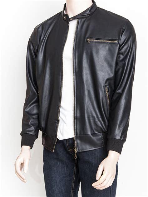 jual jaket kulit sintetis premium warna hitam