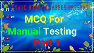 Multiple Choice Questions In Manual Testing With Answers