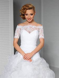 white wedding lace top off the shoulder bridal bolero With off the shoulder wedding dress topper
