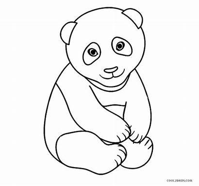 Panda Coloring Pages Printable Colouring Bear Sheets