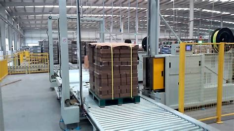 auto pallet strapping machine packaging machine  youtube
