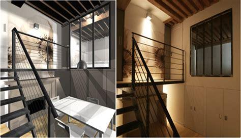 architecte lyon appartement mezzanine acier à lyon