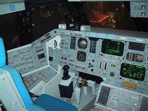Cockpit of a space shuttle : space