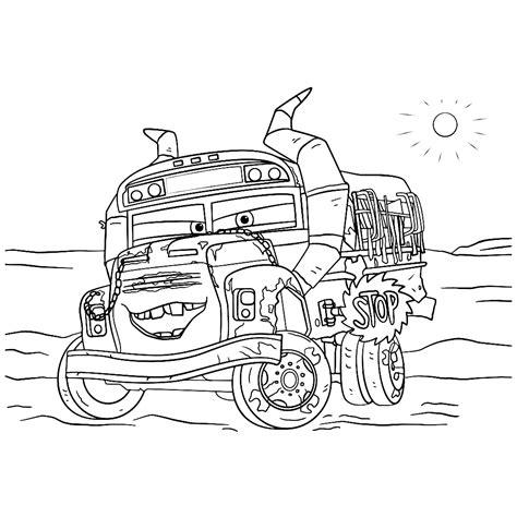 Kleurplaat Cars 3 by Leuk Voor Miss Fritter De Schoolbus