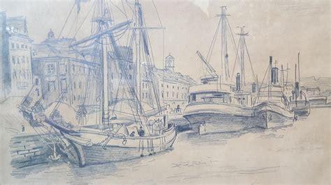 Dessin Bateau Au Port by Dessin Quot Bateaux A Voiles Au Port Quot Rene Lienard De Saint