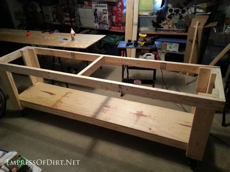 build  diy workbench  wheels empress  dirt