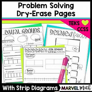 Dry-erase Pages  Problem Solving W   Strip Diagrams  Number Lines  U0026 Related Facts