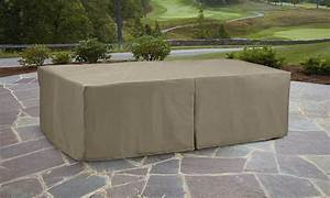 Garden oasis oversized rectangle patio furniture set cover for Outdoor patio furniture cover sets