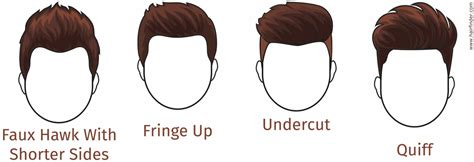 Hairstyles for men with a diamond face shape