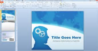 powerpoint 2010 designs free creative thinking powerpoint template