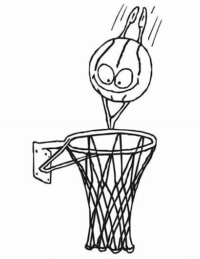 Basketball Coloring Pages Netball Hoop Clipart Ring
