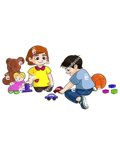 playing cartoon sharing toys clipart 4k wallpapers