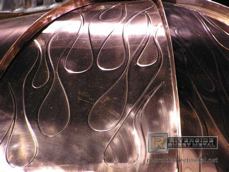 radius copper panels  flame details metal roof panels
