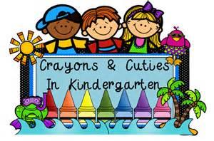 Welcome to Kindergarten Clip Art Crayons