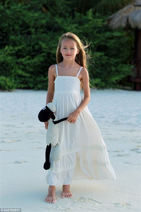 Worlds Most Beautiful Girl Kristina Pimenovas Mother Defends Pictures Daily Mail Online