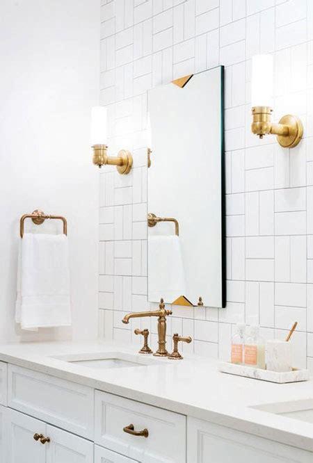 interior bathroom gold accents fixtures lovika