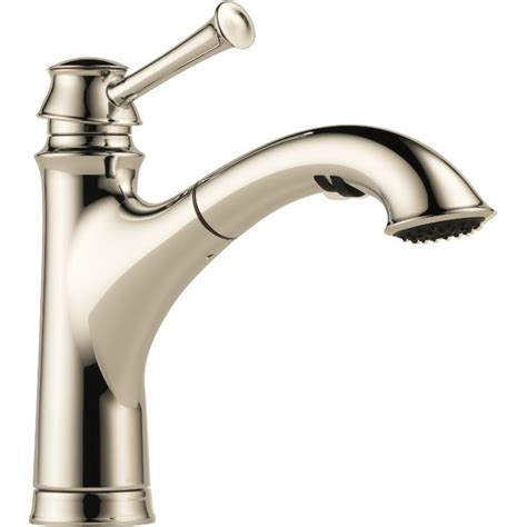 Buy Brizo 63005LF Single Handle Pull Out Kitchen Faucet at
