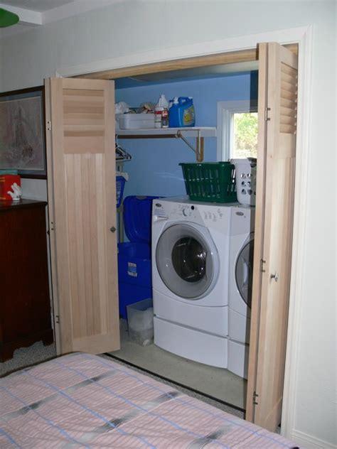 closet doors eclectic laundry room philadelphia by