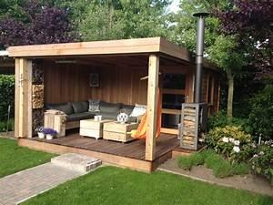 plan abri de jardin fait maison 100 images auvent With maison en palette plan 15 charpente bois toit plat mzaol