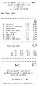 Restaurant Rechnung : restaurant pan rechnung caf restaurant pan wien ~ Themetempest.com Abrechnung