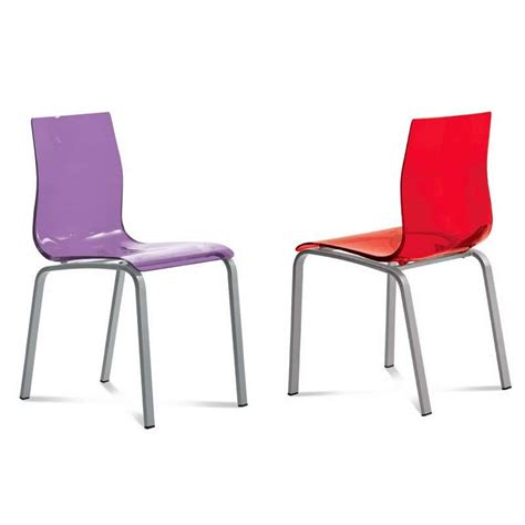 chaises en plexiglas chaise design en plexi gel domitalia 4 pieds tables