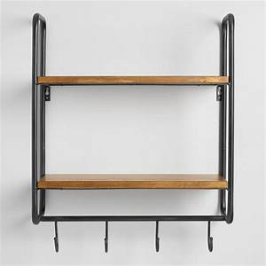 Metal and Wood Skyler 2 Shelf Wall Storage World Market