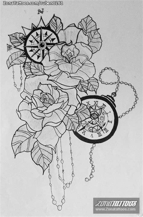 Diseño de Rosas, Flores, Relojes